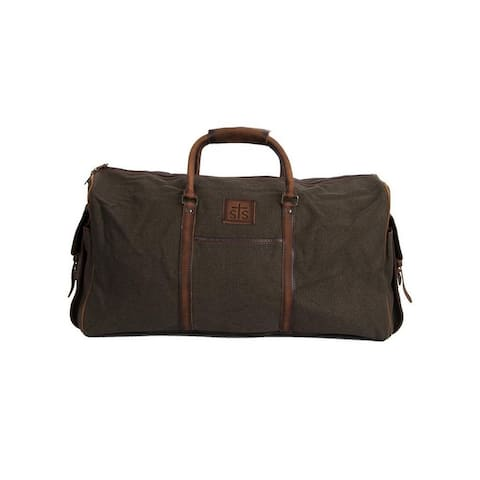 StS Ranchwear Western Bag Duffel Foreman Canvas Travel Brown - 23 W x 12.25 H x 11.5 D