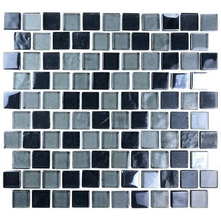 "Miseno MT-SCENERY1SQ  Scenery - 1"" X 1"" - Glass Visual - Wall Tile (Sold by Sheet)"