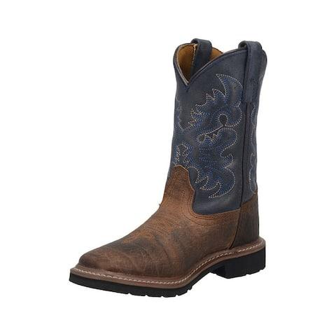 "Dan Post Western Boots Boys 8"" Brantley Leather Rust"