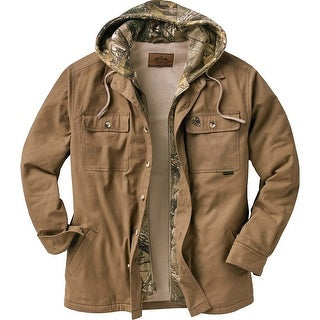 Legendary Whitetails Men's Voyager Hooded Shirt Jacket - Oak