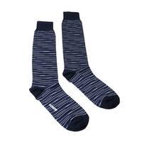 Missoni GM00CMU4657 0005 Blue/Black Knee Length Socks - S