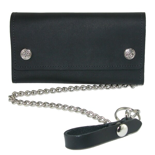 CTM® Men's Leather Credit Card Trucker Chain Wallet - One size