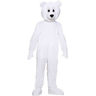 Forum Novelties Norm the Nordic Bear Mascot Adult Costume - White - Standard