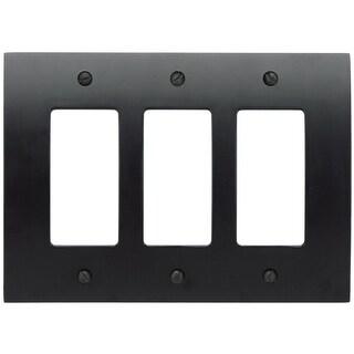 Atlas Homewares PHPTR Zephyr Triple Rocker Switch Plate - N/A