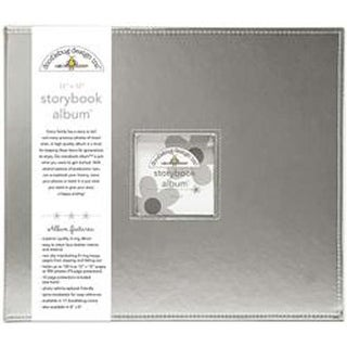 "Silver Metallic - Doodlebug Storybook Metallic Album 12""X12"""