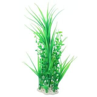 Aquarium Fish Tank Plastic Artificial Water Plant Grass Decor Green 47cm Height