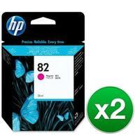 HP 82 28-ml Magenta DesignJet Ink Cartridge (CH567A)(2-Pack)