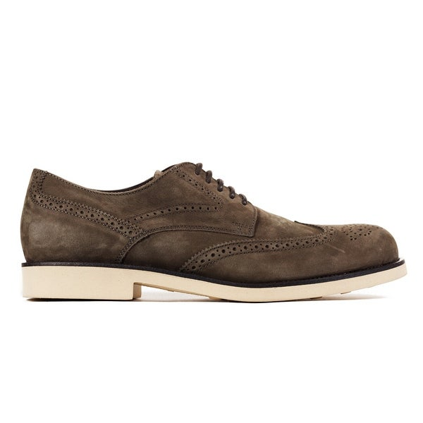 a8769e7760 Tod's Men's Dark Brown Leather Brogue Oxford Shoes. Click to Zoom