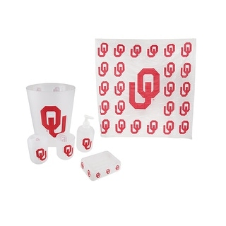 Oklahoma Sooners Frosted Finish 7 Piece Bath Set - Red