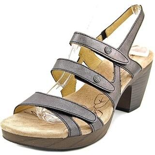 Romika Nancy 03 Women Open-Toe Leather Gray Slingback Sandal