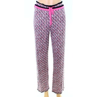 Kensie NEW Pink Women's Size Small S Geometric Print Lounge Pants