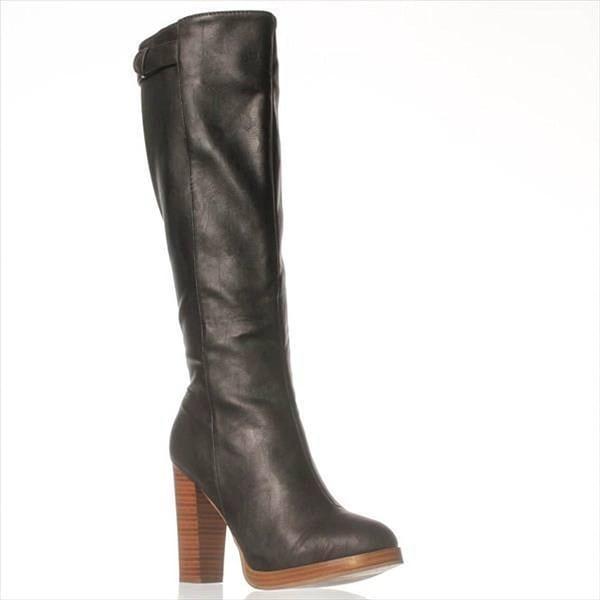 JFab Meribora Knee-High Boots - Black
