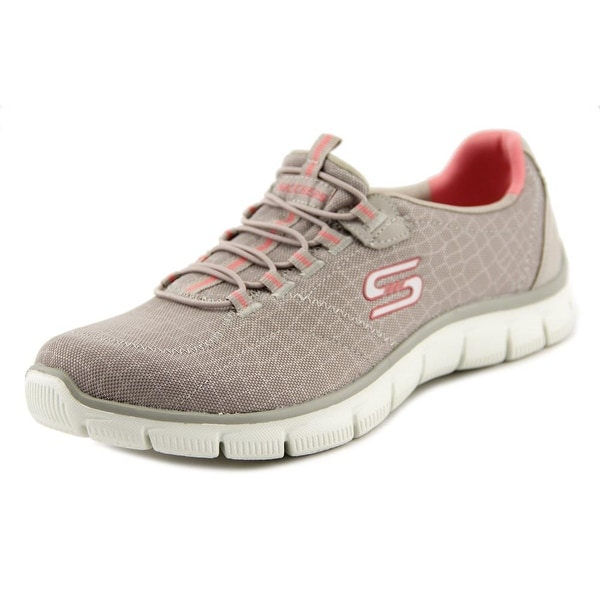Skechers Empire-Rock Around Women Round Toe Canvas Gray Sneakers