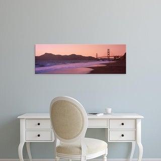 Easy Art Prints Panoramic Images's 'Baker Beach, Golden Gate Bridge, San Francisco, California' Canvas Art