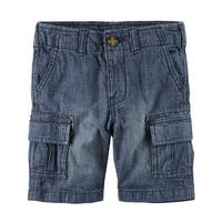 Carter's Baby Boys' Denim Cargo Short, 18 Months