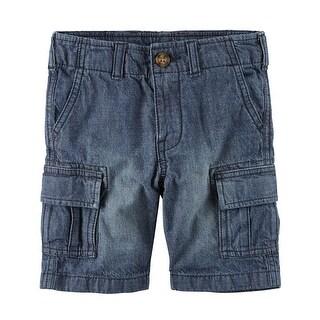 Carter's Baby Boys' Denim Cargo Short, 18 Months