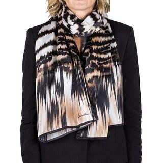 Roberto Cavalli Women's Animal Print Silk Scarf Large