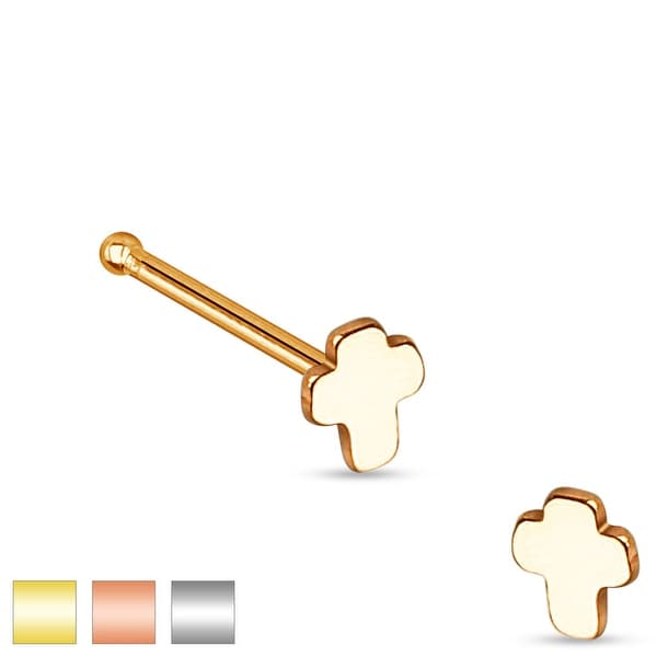 Cross Top 316L Surgical Steel Nose Stud (Sold Individually)