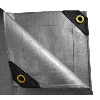 12 x 30 Heavy Duty Canopy Tarp - Silver