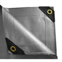 6 x 20 Heavy Duty Canopy Tarp - Silver