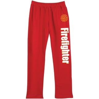Unisex Adult Professions Sweatpants - Firefighter - Front Pockets & Elastic Waist