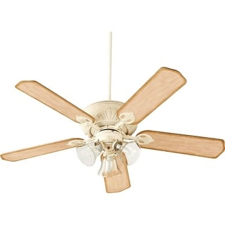 "Quorum International 78525-19 Chateaux Uni-Pack 52"" 5 Blade Hanging Indoor Ceiling Fan with Reversible Motor, Blades, and Light"