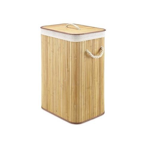 Whitmor 6277-6702 rect bamboo hamper natural