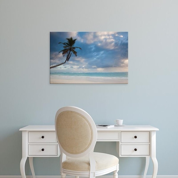 Easy Art Prints Walter Bibikow's 'Bavaro Beach Palms' Premium Canvas Art