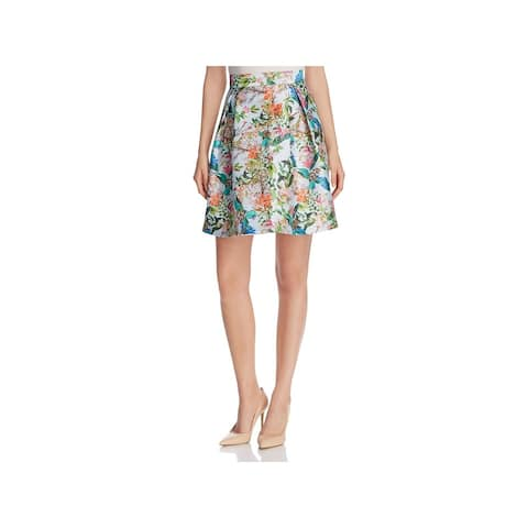 Finity Womens Flare Skirt Midi Floral - 2