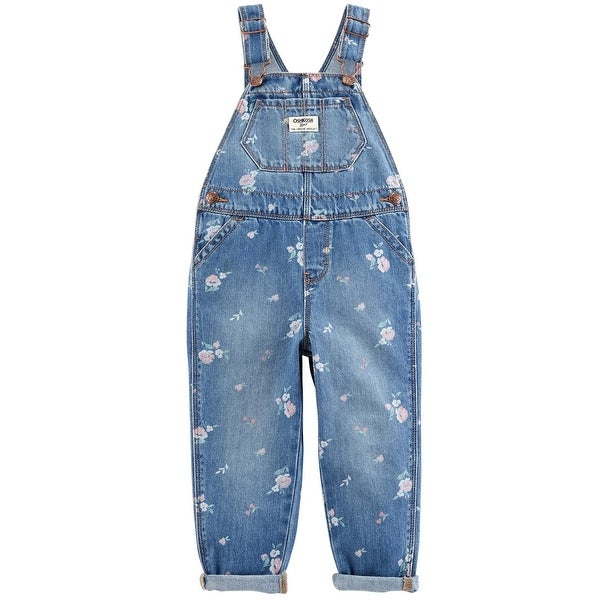 b88715146 Shop OshKosh B'gosh Baby Girls' Denim Floral Overalls, 12-18 Months - 12-18  Months - Free Shipping On Orders Over $45 - Overstock - 27286764