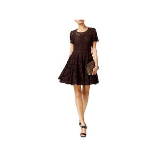 MICHAEL Michael Kors Womens Party Dress Lace Short Sleeves
