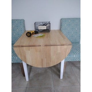 Simple Living Country Cottage Dining Table - Natural, White