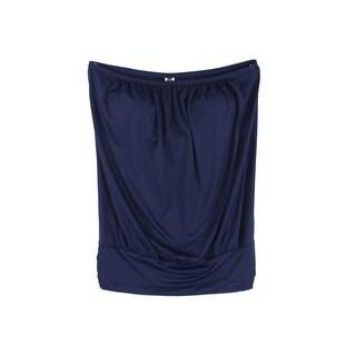 Tommy Bahama Navy Blue Womens Size 3X Plus Bandini Tankini Top