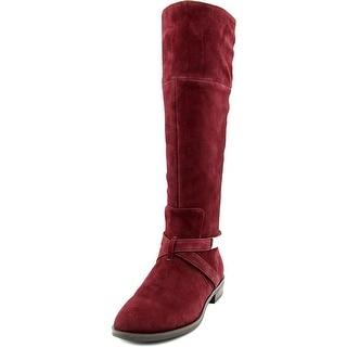 Alfani Egila Women Round Toe Suede Burgundy Knee High Boot