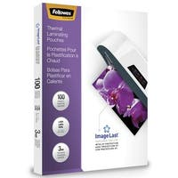 Fellowes ImageLast Laminating Pouches, Letter, 3 mil Thickness, Pack of 100