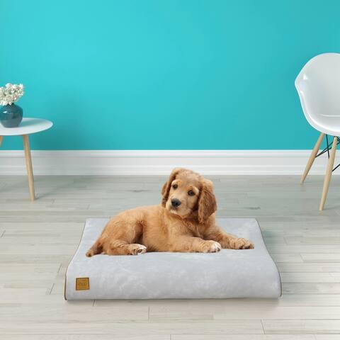 Bliss Orthopedic Breathable Dog Bed Pillow Mattress Cushion, Light Grey