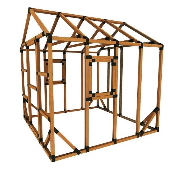 Shop Build Your Own E Z Frame 8x8 Playhouse Kit 8x8 On Sale