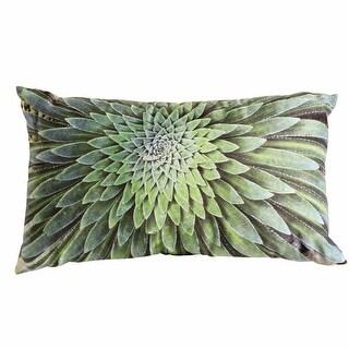 Succulent Accent Pillow - Spiral Aloe Plant Rectangle