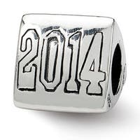 Sterling Silver Reflections Grad 2014 Trilogy Bead (4mm Diameter Hole)