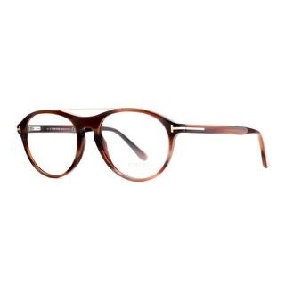 Tom Ford TF 5411 062 53mm Brown Horn/Gold Men's Round Eyeglasses - 53mm-17mm-145mm