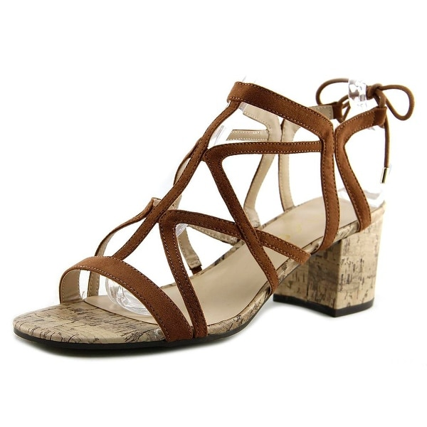 Unisa Esta Women Open Toe Canvas Tan Sandals