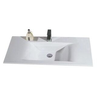 "Eago BB128 39-3/8"" Drop In Bathroom Sink - White"