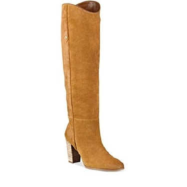GUESS Womens Honon Suede Closed Toe Knee High Fashion Boots