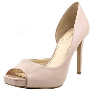 Jessica Simpson Jaselle Peep-Toe Synthetic Heels