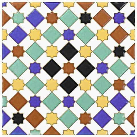 SomerTile 7.875x7.875-inch Hispalence Giralda Ceramic Wall Tile