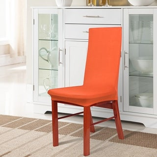 Unique Bargains Spandex Stretch Dark Orange Dining Chair Slipcovers