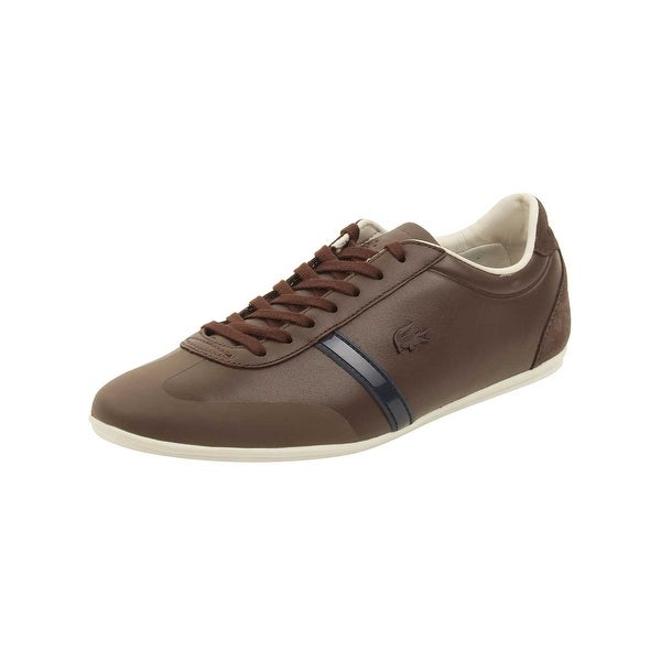 7bd96dd859a488 Shop Lacoste Mens Mokara 316 Sneakers in Dark Brown - Free Shipping ...