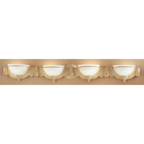 Classic Lighting 4044 Rope and Tassel 4 Light Bathroom Vanity Light