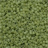 Miyuki Duracoat Delica, Japanese 11/0 Seed Beads, 7.2g Tube, Opaque Fennel Green DB2123