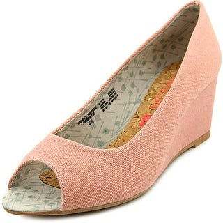 Movmt Grace Wedge Open Toe Canvas Wedge Heel